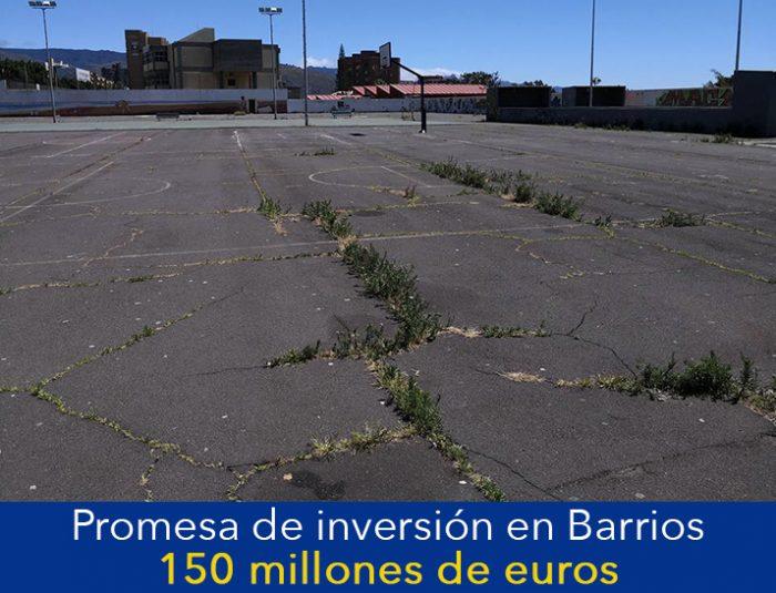 PROMETIÓ INVERTIR 150 MILLONES DE EUROS EN 80 BARRIOS