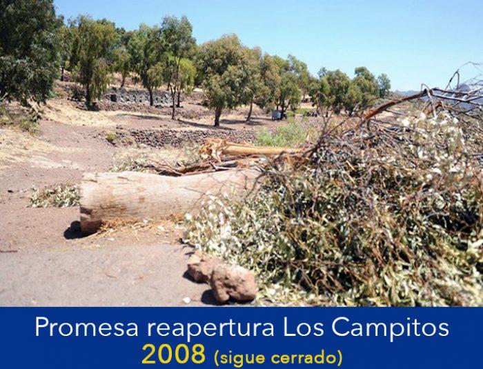 EN 2008 CERRARON LOS CAMPITOS. EN 2012 PROMETIERON REABRIRLO. SIGUE CERRADO.
