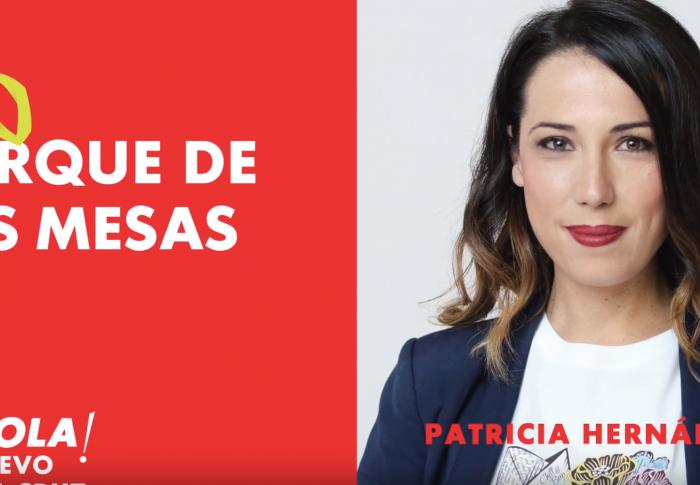 Patricia Hernández recorre los parques de Santa Cruz